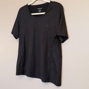 Champion Womens Athletic Shirt Size Large Black